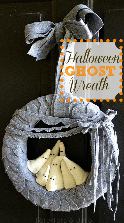 Felt Ghost Wreath. *Photo courtesy of Tatertots and Jello